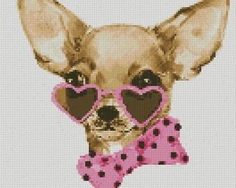 Cross Stitch Pattern PDF Chihuahua 2