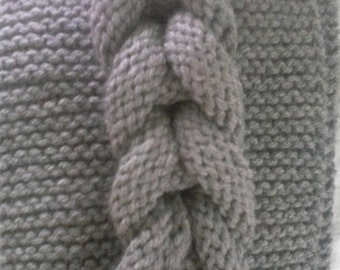 Mock Cable Infinity Scarf