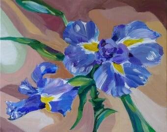 Iris Abstraction - Original Painting