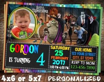 Hotel Transylvania Invitation. Hotel Transylvania Birthday Invitation. Childrens Birthday. Hotel Transylvania Invite. Transylvania Invite