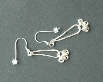 Sterling silver drop silver earrings
