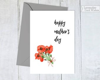 Happy mothers day Card for mom Printable cards Mothers day card floral Mothers day Gift ideas for mom Digital Mothers day cards Moms gift