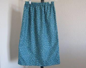 Womens Teal Brushstroke Skirt