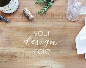 Restaurant Menu Styled Stock Photography / Product Mockup / Styled Photo / Blog / Website / Product Image / Sassaby Studios / Wine #8850