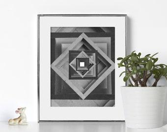 Cube Art Digital Download Printable Art Geometric Print Nordic Art Scandinavian Design Swedish Abstract Art Gallery Wall Print Geometric Art