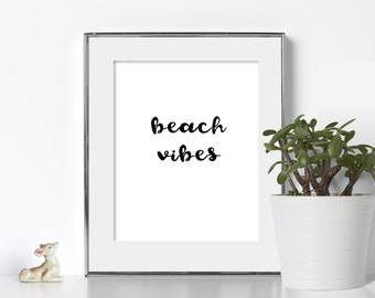 california vibes socal art digital download printable art typography beach art beach home decor bathroom wall