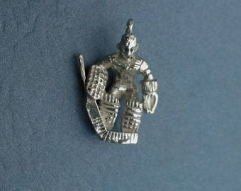 Sterling Silver Hockey Player Charm
