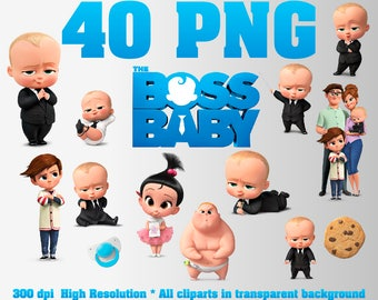 The Boss Baby Clipart | 40 PNG 300 DPI | Transparent background | Boss Baby Party Decorations | The Boss Baby, Templeton  | Digital Files
