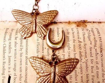 Ear weights 'Open Mind' brass heavy butterflies