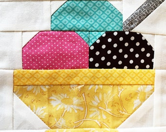 Ice Cream Quilt Block