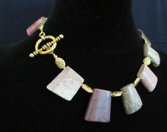 Jasper and Brass Necklace