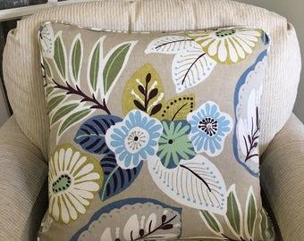 Modern Floral With Denim Back