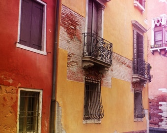 Colorful Venetian Print, Venice Italy Decor, Travel Photography