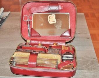 Time borfdeaux leather travel kit