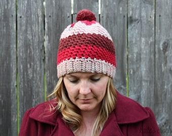 Much Love Beanie Pattern / Crochet Pattern / Crochet Hat / Crochet Hat Pattern