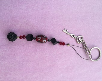 Charm - red and black