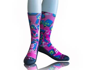 Handmade Sublimated Socks style 1985