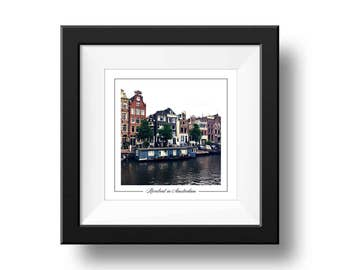 Amsterdam Riverboat Print, Riverboat Photography, Square Wall Art