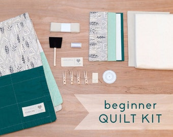 Falling Leaves - DIY Baby Quilt Kit for Beginner Sewists and Quilters