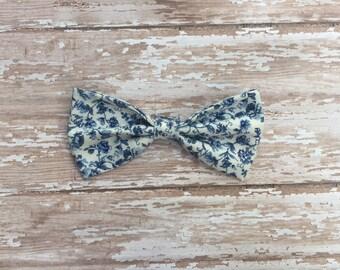 Vintage wallpaper cotton bow, hair bow, baby bow, baby headband, snap clip, elastic