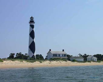 Cape Lookout Lighthouse Outerbanks North Carolina - Canvas Gallery Wrap