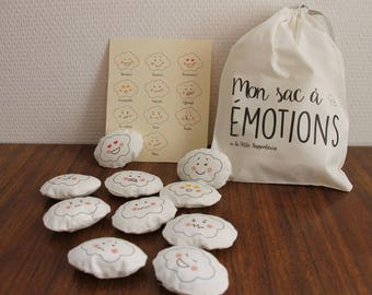 My bag to emotions, educational game, learn its emotions, emotions clouds