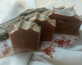 Cedar and Saffron Milk Soap Hand and Body Bar