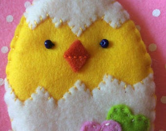 Easter chick just out of the shell
