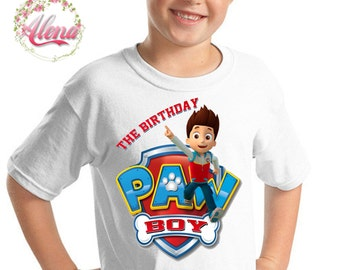 Paw Patrol Iron On Tranfer , Boy Birthday Shirt , Paw Patrol Shirt DIY , Iron On Transfer , Paw Patrol Printable , Transfer Sheet