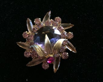 Gorgeous Verified Juliana Rhinestone Brooch from Delizza & Elster