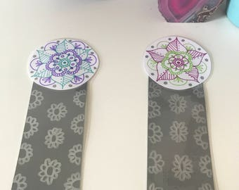 Mandala Bookmark Hand Drawn