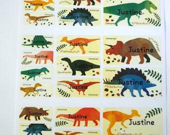 Waterproof Dinosaur Mixed Sizes Name Sticker (81 Stickers)