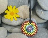 Mandala Necklace - Rainbow Necklace - Mandala Art - Chakra Necklace - Chakra Jewelry - Chakra Jewellery - Peace