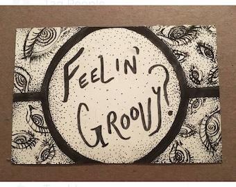Feelin' Groovy Postcard