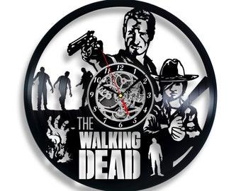 The Walking Dead Vinyl record clock Home design home decor wall clock