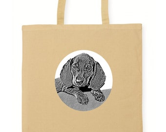 Dog In The Window Tote Shopping Bag