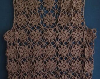 Woman clothing Crochet vest