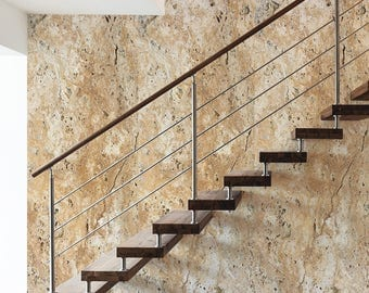 Marble browns, greys or blues, stone effect wallpaper for natural designed interiors.