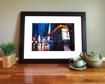 Raindrops in New York Giclée Print