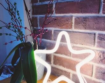 Custom Neon Sign Star shape LED Neon light handmade gift for her wall decor