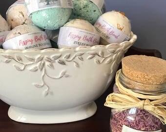Luxurious Fizzing Bath Bombs & Bath Cakes