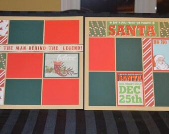 Santa scrapbook page kit