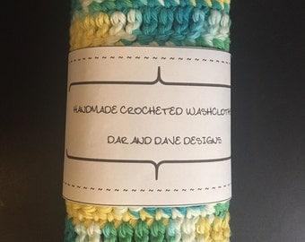 Handmade Crochet Washcloths set of 2