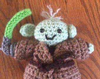Yoda,Star Wars, Crocheted Amigurumi Character