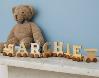 Personalised Wooden Name Train, Name Train, Wooden Name Train, Wooden Train, Baby Name Train