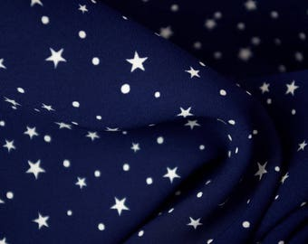 Twilight To Midnight Star Pattern Polyester