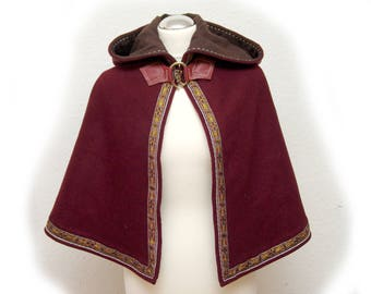 Gugel, Cape, Cape, middle ages, Knights, reenact, wool, linen, coat