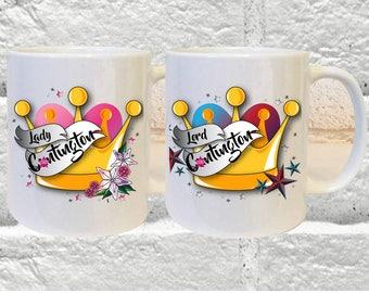 Lady & Lord C*ntington Mug Set, Profanity Mug Set, Profanity Gift, C*nt Christmas Gifts, C*nt Birthday Gift, Mugs, Offensive Mug, Sweary Mug