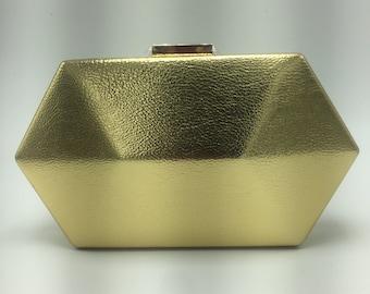 Geometric shaped clutch purse