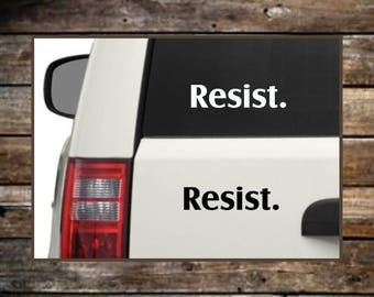 Resist Decal Sticker / 12 Colors / Resistance Sticker / Resist Bumper